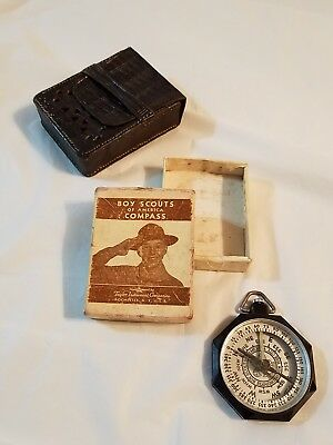Vintage BOY SCOUTS Of AMERICA Taylor Instrument Compass  w/ Orig Box