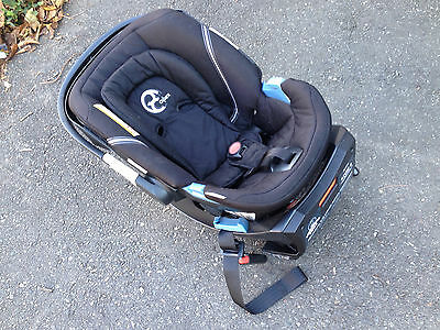 CYBEX Aton 2 Infant Baby Car Seat and Load Leg Base in Black Beauty