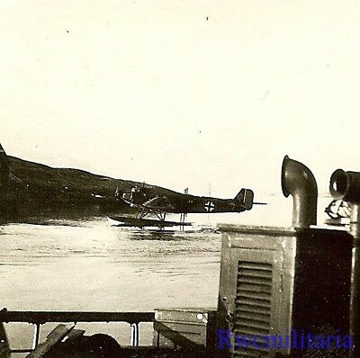 WATER WINGS! Luftwaffe Ju-52 Transport Plane w/ Floats On Sitting in Harbor!!!