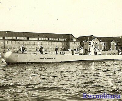 **RARE: Kriegsmarine U-Boat U-6 (decommissioned 1944) Entering Harbor!!!**