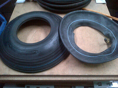 1 pair Industrial 4.00x6 Ribbed Tyre & Tube (4PLY)