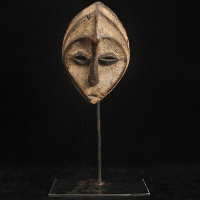 Old lube  passport mask African  wooden mask DRC Congo Zaire