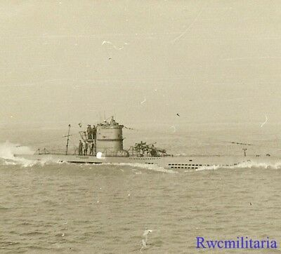 **RARE: Kriegsmarine Submariners Topside on U-Boat Surfaced on War Patrol!!!**