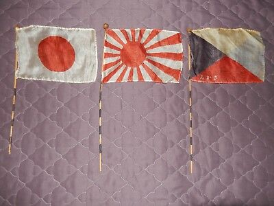Original WWII Japanese Silk Parade Flag Vintage Collectible