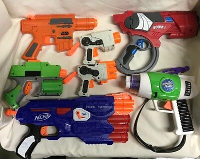 Nerf Blaster Hand Gun Lot Of 8 Nerf BoomCo More Nerf NStrike Star Wars Disney