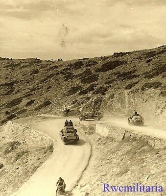OVERVIEW German SdKfz Armored Cars of Aufklärungs Unit on Greek Mountain Road!