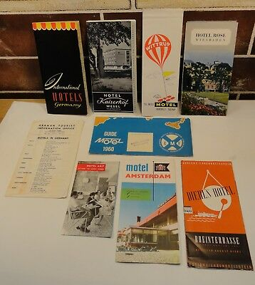 Vintage International Hotel Brochures late 50's early 60's