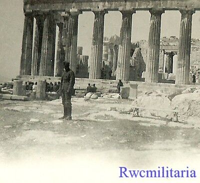 TOURISTE! German Soldier Posed at the AKROPOLIS (ATHENS), Greece 1941!!!