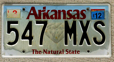 "Arkansas ""The Natural State"" License Plate - Diamond Version with a 2012 Sticker"