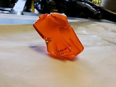 1953 Pontiac Chief Hood Ornament Lucite Amber Insert. UV protected !!!!!