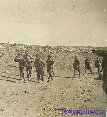 **RARE: Afrika Korps German Field Marshal Visiting Frontline Desert Positions!**