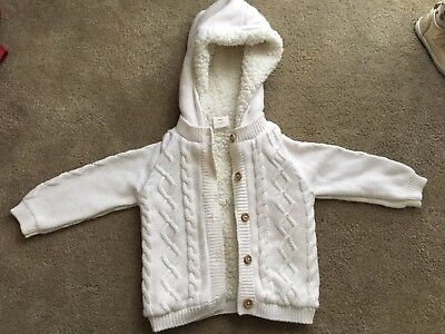 Baby Seed Heritage Knitted Hooded Cardigan Size 0 6-12 Months