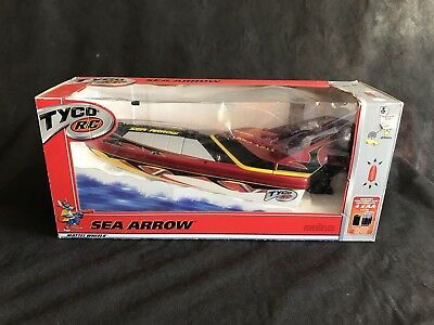Tyco Sea Arrow RC Boat In Box - Remote Control Mattel With Outboard Motor