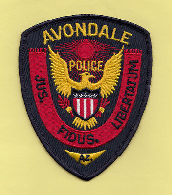 H19 * Old Style Avondale Arizona State Sheriff Highway Police Patch Stock Eagle