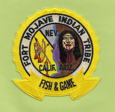 H23 * Old Arizona Fort Mojave Tribe Fish Game State Police Patch Tribal Indian