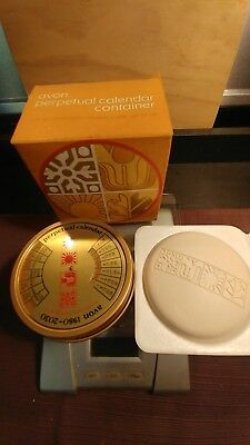 Avon Perpetual Calendar Container With Soap 1980 To 2030 Old Stock New