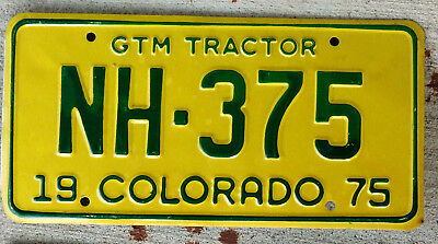 1975 Green & Yellow Colorado GTM (Gross Ton Maintenance) Tractor License Plate