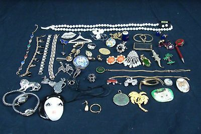 Vintage Lot 52 Pcs Estate Jewelry Sterling Magnesite Marcasite Bing & Grondahl