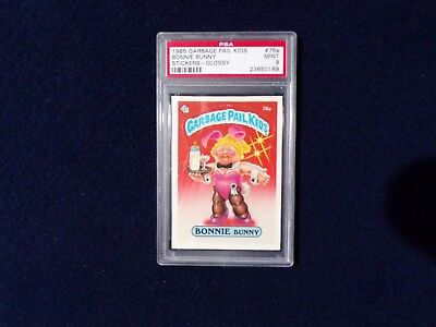 GARBAGE PAIL KIDS 1985 2nd Series 76a BONNIE BUNNY GLOSSY PSA 9