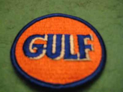"Vintage Gulf Gasoline All Embroidery Sew On Patch 2 5/8 ""X 2 5/8"""