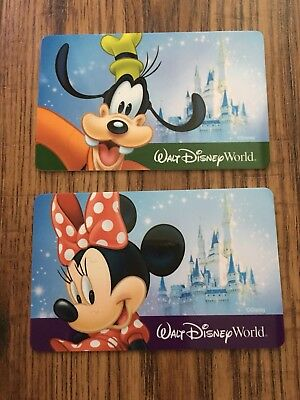 (2) Disney Gift Cards Minnie and Goofy Collectible NEW No Value