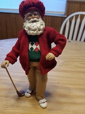 PDL Santa Claus Golfin Christmas Holiday Sculpture Figurine Decor + 2 Others