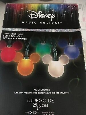 Disney Magic Holiday LED Mickey Mouse Shimmering Christmas Lights String