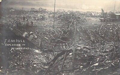 Munitions Explosion RPPC, Jamiloux, Belgium, Germans blew up after Armistice