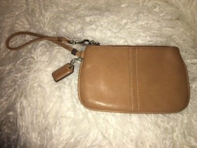 AUTHENTIC COACH WRISTLET BROWN LEATHER SMALL Tan