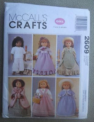 McCalls    Pattern  2609 18 inch doll clothes pattern new/uncut