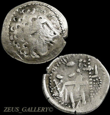 Celtic Silver Drachm Alexander the Great imit. Herakles Danubian Ancient Coin