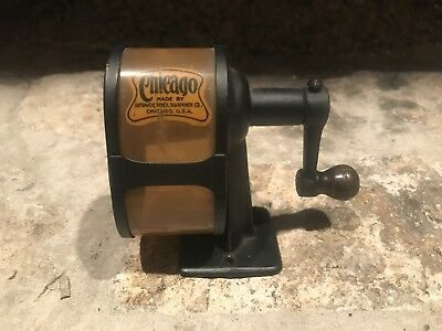 Vintage Chicago Pencil Sharpener By Automatic Pencil Sharpener Co.  Very Clean