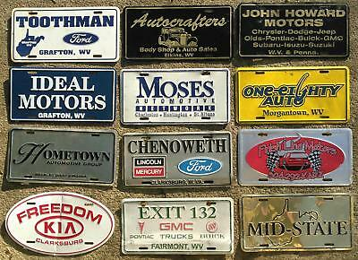 West Virginia dealer metal advertising booster license plates lot x12