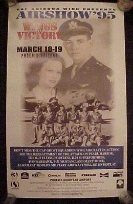 Old 1995 Wings of Glory Airshow Air Show Poster & Brochure Phoenix Az.