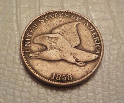1858 Flying Eagle Cent old US coin large letter variety No Reserve
