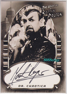 2002 Complete Star Trek Voyager Auto:martin Rayner #pa2 Captain Proton Autograph