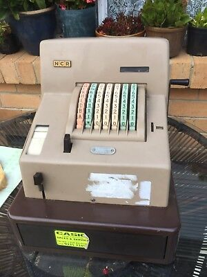 NCR 82 Antique Cash Register with Original Guarantee & Instruction Manual & Keys