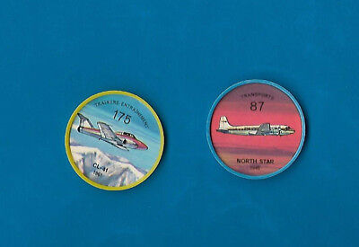 1960's Jello Airplane Coins Lot of 2  #87 & #175  NM-MT