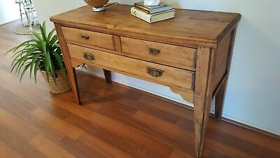 Vintage Rustic Console / Side Table / Hall Table - Excellent Cond