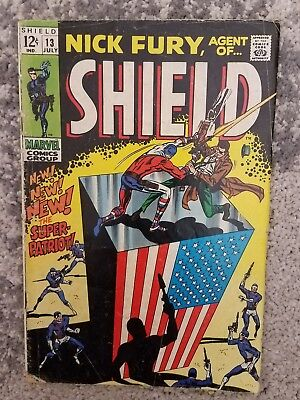 Nick Fury, Agent of SHIELD #13 (Jul 1969, Marvel) - 1st Super Patriot  GD cond