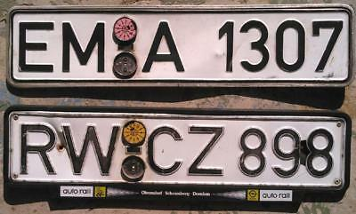 German / Germany 1985 1987  license plates with FRAMES