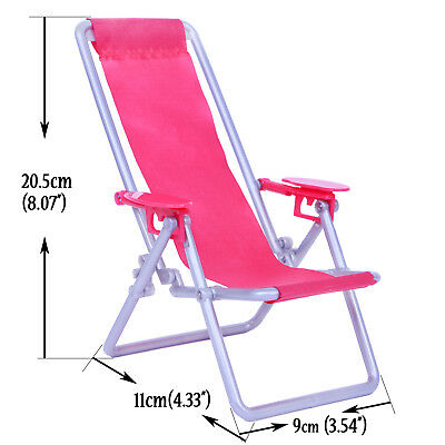 Solid White Swimsuits Swimwear Beach Recliner Chair For 11.5 in. 12 in. 1/6 Doll