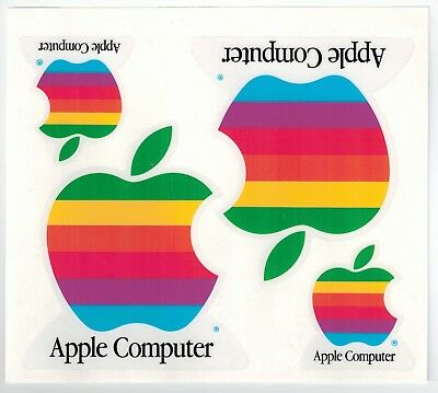 Apple Computer Coloured Logo Stickers - 1990s