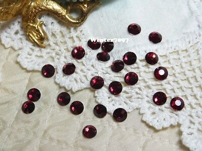 (241)**costume Makers Sellout**flat Back Rhinestones**ruby Red**round**new!**