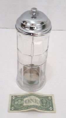 Vintage Gemco Barber Hairdresser Comb Sanitizing Jar With Lift - 10 Inches Tall