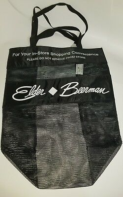 Elder-Beerman Tote Bag In Store Use Only Black Polyester BonTon Department store