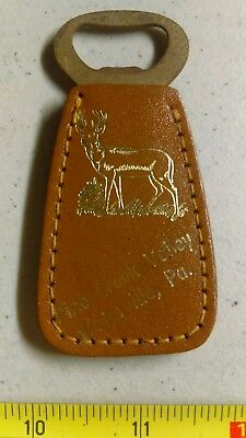 Vintage Waterville Pennsylvania Bottle Opener Leather Rare
