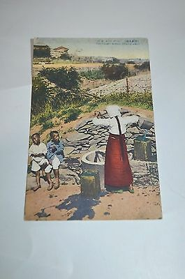 Early Japan Occupied Korea Postcard The Chosen Woman Drawing Water