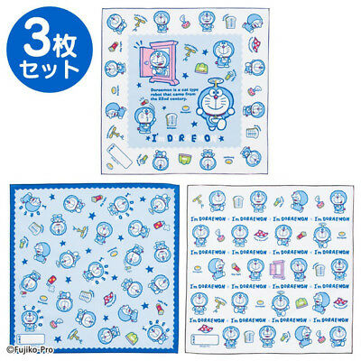 Doraemon large Place mat 3 piece set (I'm DORAEMON) Sanrio Japan For School