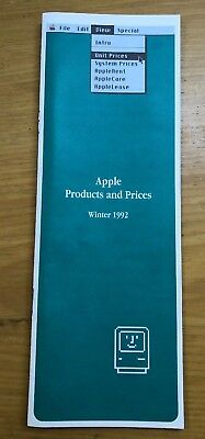 Apple Products and Prices - Winter 1992 brochure - Vintage Apple